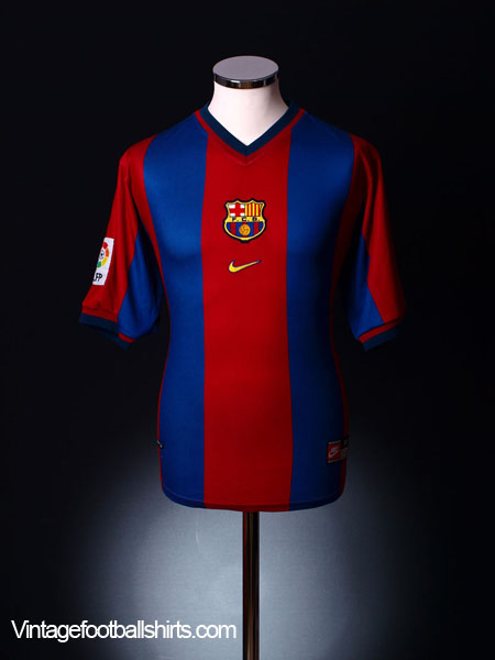 1998-99 Barcelona Home Shirt M.Boys