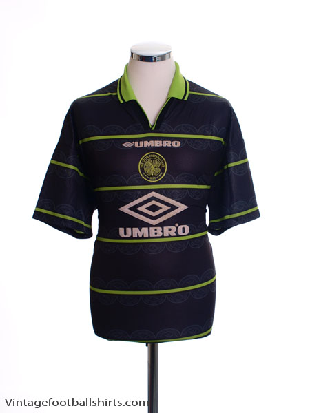 1998-99 Celtic Away Shirt L