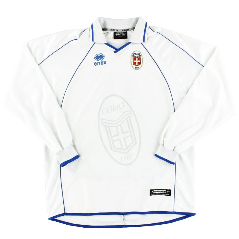 1998-99 Como Away Shirt L/S #9 XXL