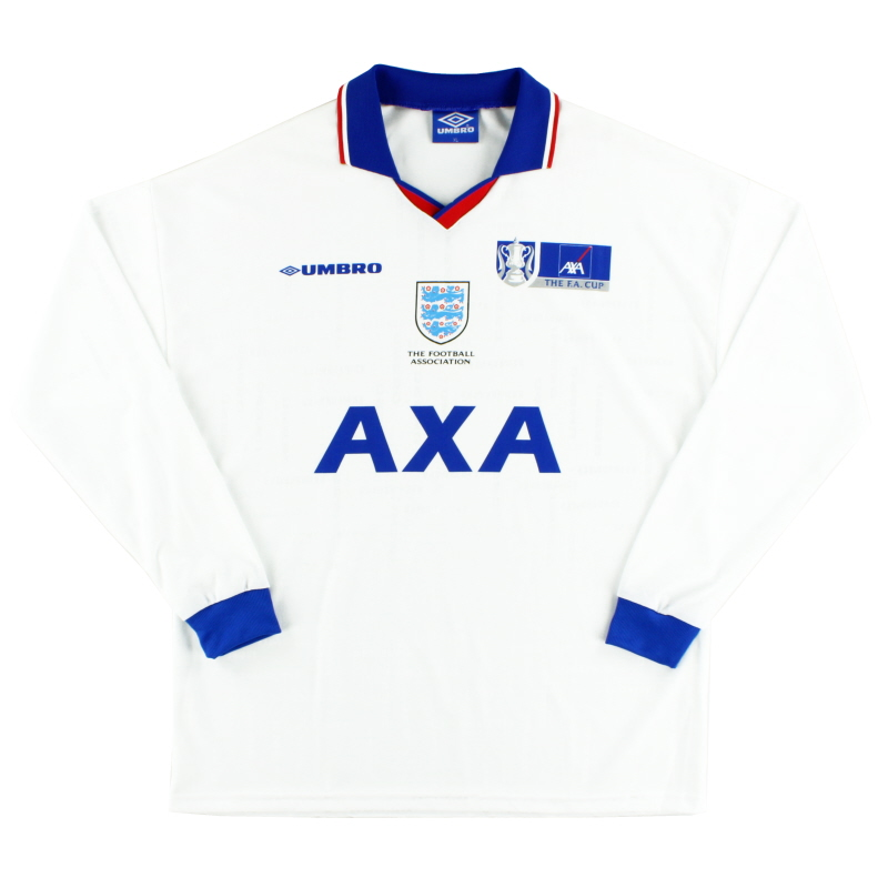 1998-99 England FA Cup Training Shirt L/S XL