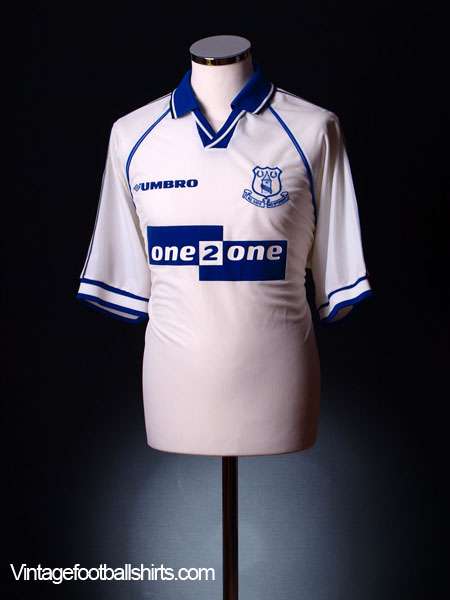1998-99 Everton Away Shirt L