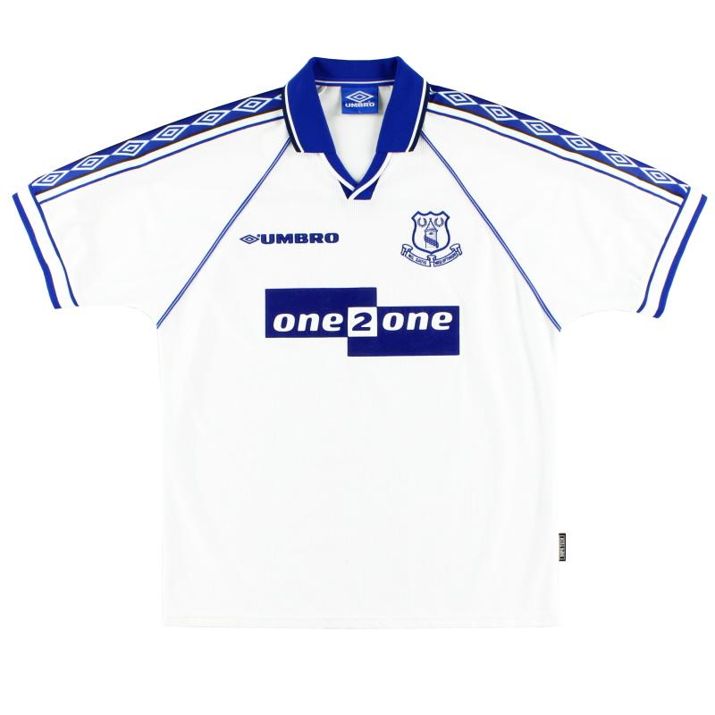 1998-99 Everton Away Shirt L