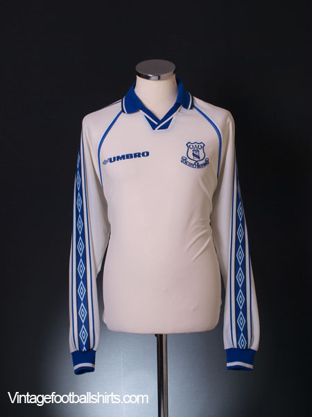 1998-99 Everton Away Shirt L/S XL