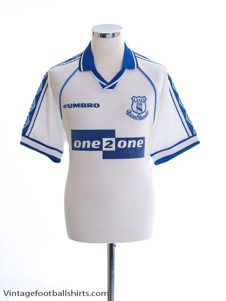 1998-99 Everton Away Shirt M