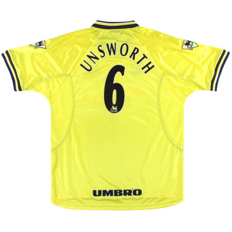 1998-99 Everton Umbro Third Shirt Unsworth #6 *Mint* XL