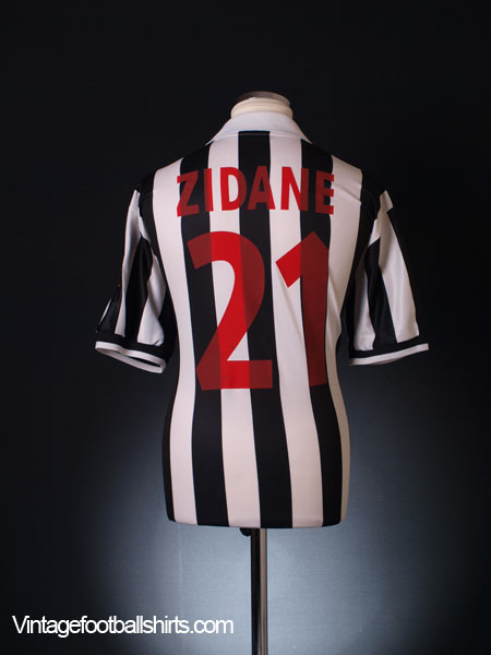 1998 99 Juventus Home Shirt Zidane 21 L For Sale