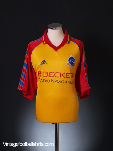 1998 99 karlsruhe away shirt xxl for sale. Black Bedroom Furniture Sets. Home Design Ideas