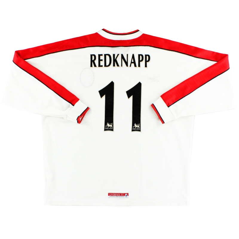 1998-99 Liverpool Away Shirt Redknapp #11 L/S XL
