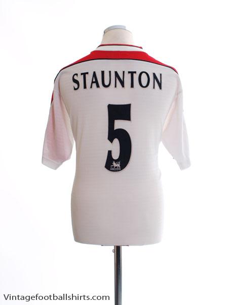1998-99 Liverpool Away Shirt Staunton #5 M