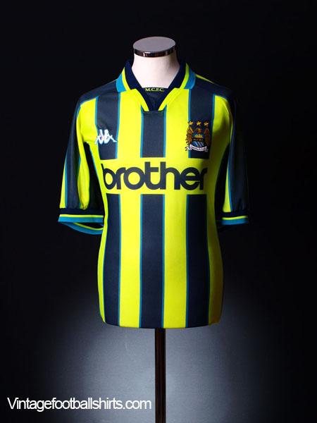 1998-99 Manchester City Away Shirt L