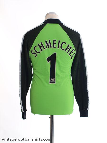 1998-99 Manchester United Goalkeeper Shirt Schmeichel #1 Y