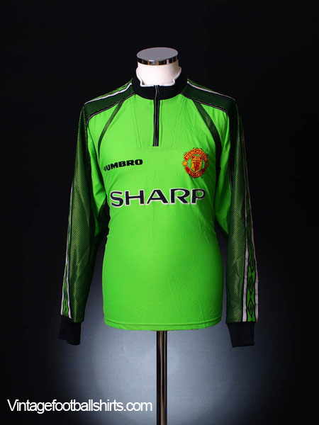 separation shoes a589d abb35 1998-99 Manchester United Goalkeeper Shirt L for sale
