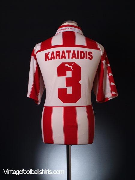 1998-99 Olympiakos Home Shirt Karataidis #3 XL