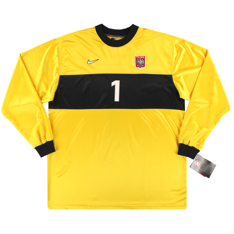 1998-99 Poland Nike Match Issue Goalkeeper Shirt #1 *w/tags* XXL