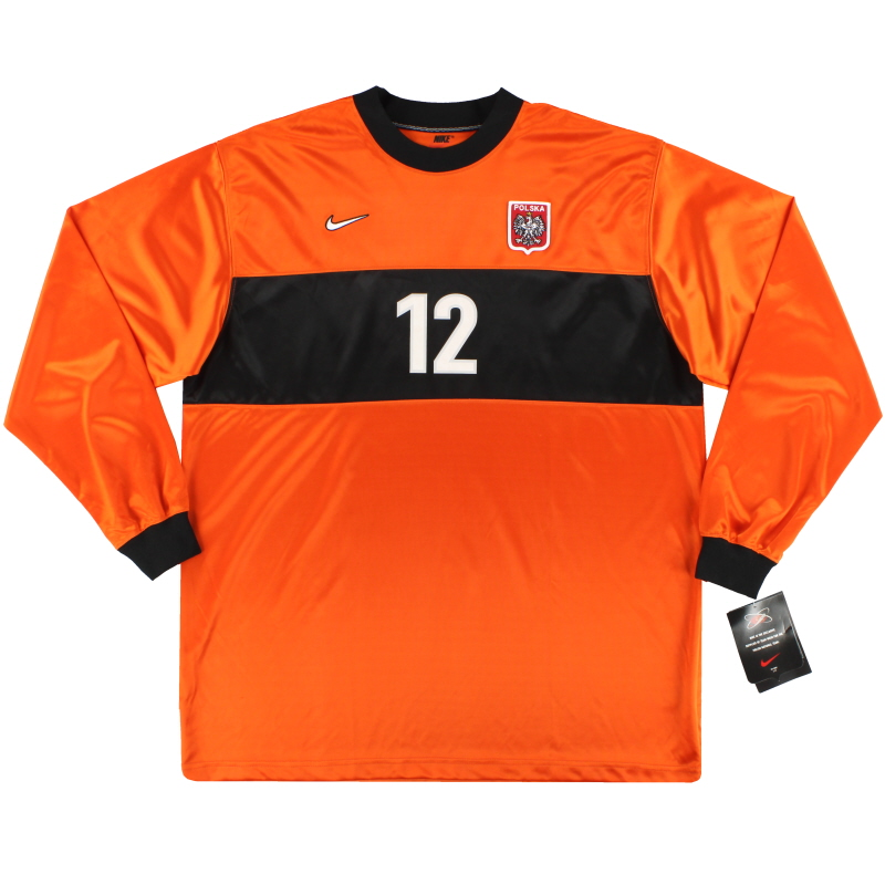 1998-99 Poland Nike Match Issue Goalkeeper Shirt #12 *w/tags* XXL
