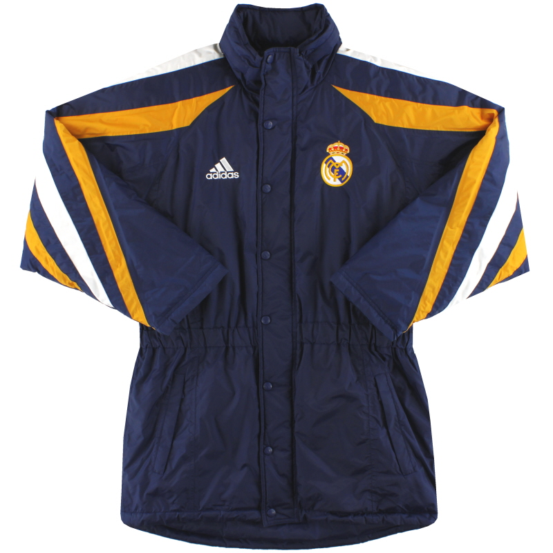 1998-99 Real Madrid adidas Bench Coat *Mint* S