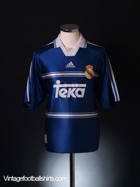 1998-99 Real Madrid Away Shirt L