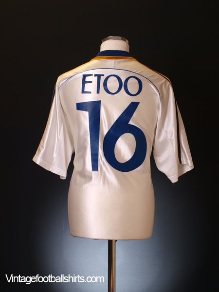 1998-99 Real Madrid Home Shirt Etoo #16 L