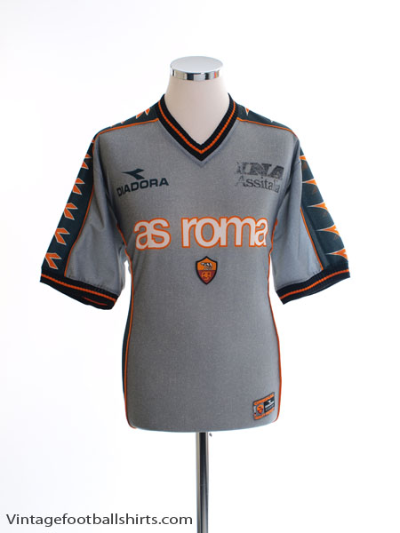 1998-99 Roma Diadora Training Shirt L