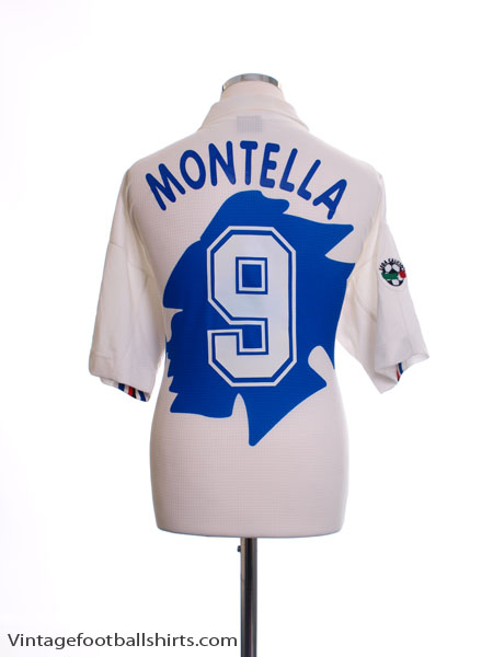 1998-99 Sampdoria Away Shirt Montella #9 M