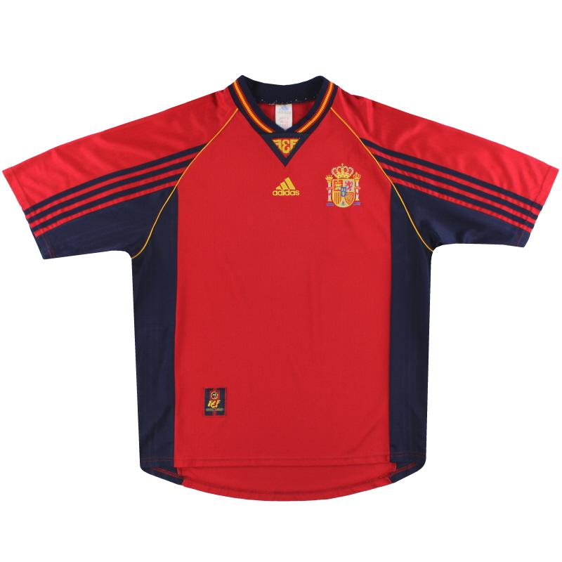 1998-99 Spain adidas Home Shirt L