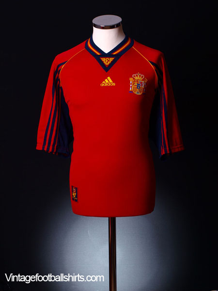 1998-99 Spain Home Shirt *Mint* XL
