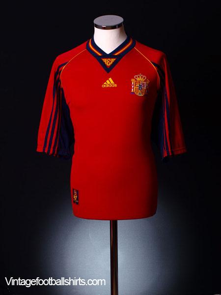 1998-99 Spain Home Shirt S
