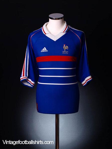 1998 France Home Shirt XL