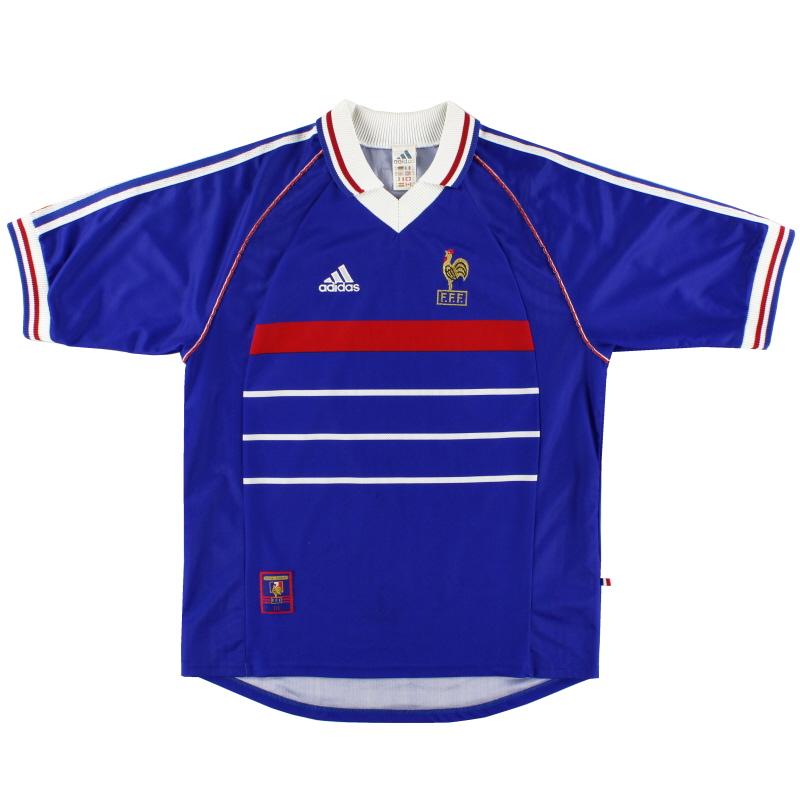 1998 France adidas Home Shirt L