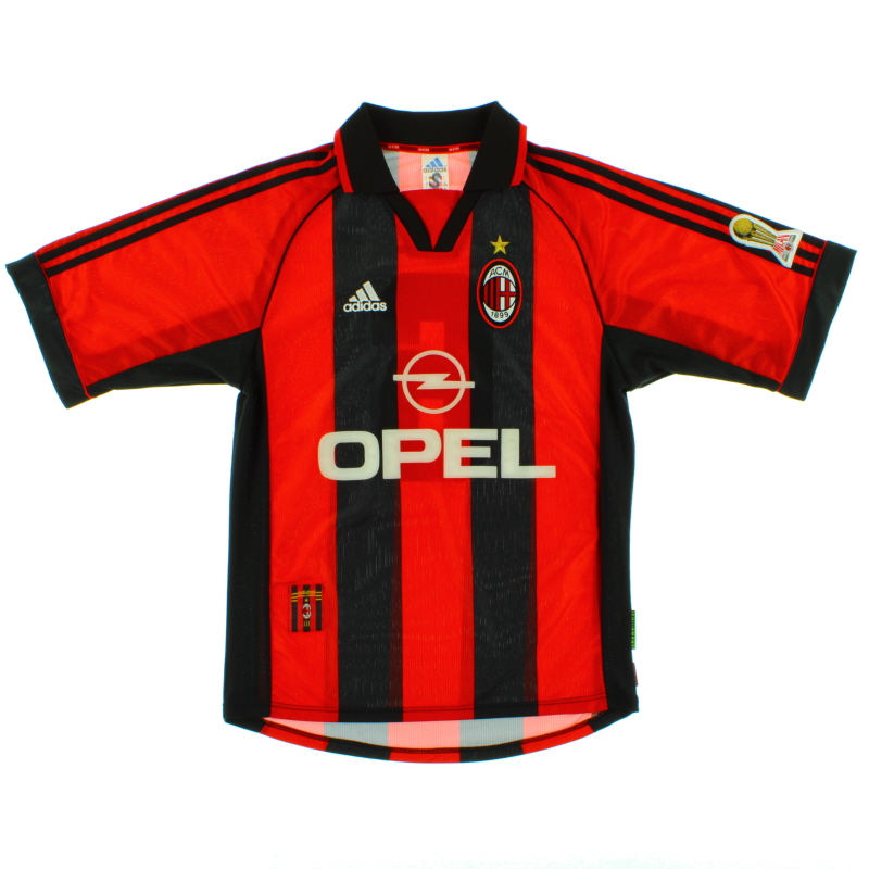 1999-00 AC Milan Player Issue Home Shirt #6 S - 612812