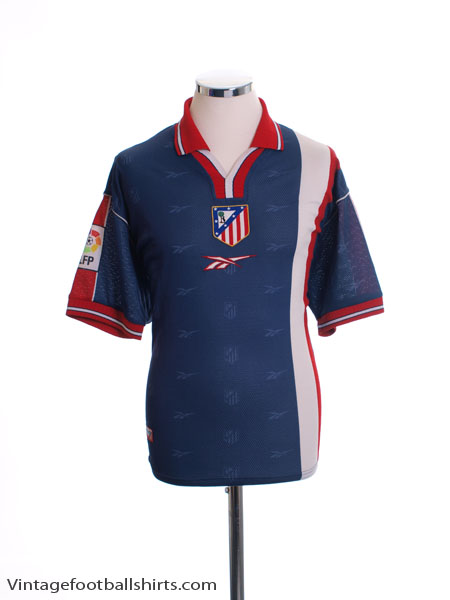 1999-00 Atletico Madrid Away Shirt L