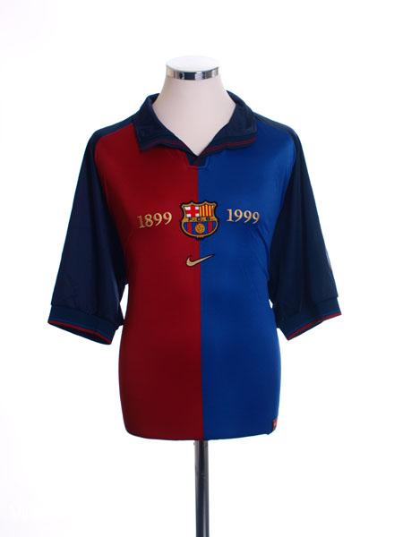 1999-00 Barcelona Centenary Home Shirt L