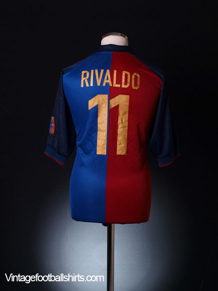 huge selection of 3f799 fab53 1999-00 Barcelona Centenary Home Shirt Rivaldo #11 L for sale