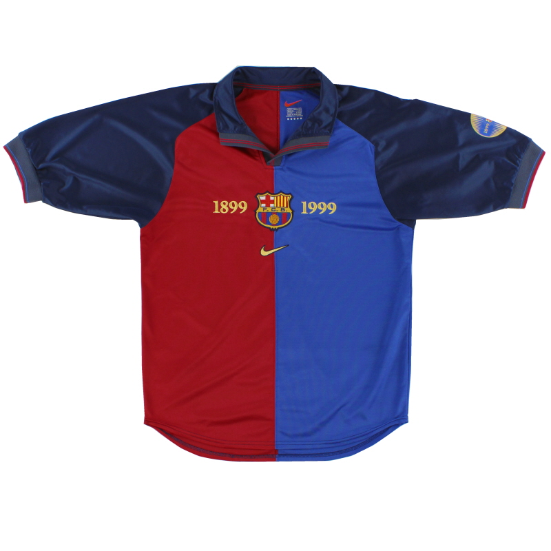 1999-00 Barcelona Nike Centenary Home Shirt L