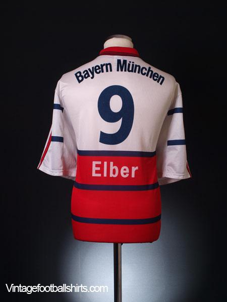 1999-00 Bayern Munich Away Shirt Elber #9 XXL