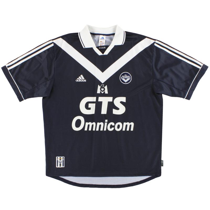 1999-00 Bordeaux adidas Home Shirt XL