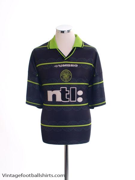 1999-00 Celtic Away Shirt *Mint* L