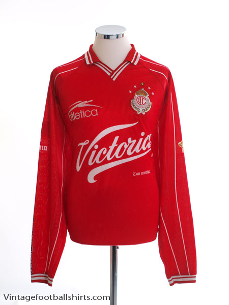 1999-00 Deportivo Toluca Home Shirt L/S XL