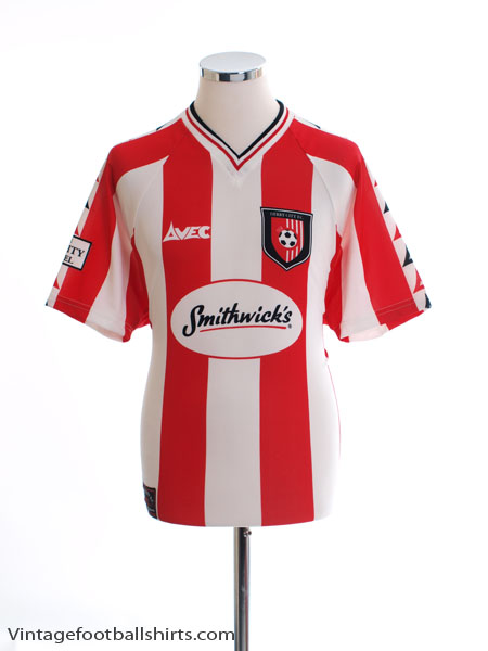1999-00 Derry City Home Shirt S