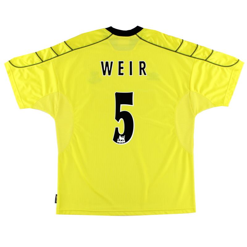 1999-00 Everton Away Shirt Weir #5 XL