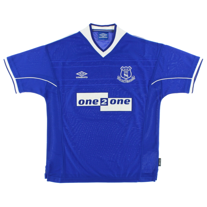 1999-00 Everton Home Shirt M