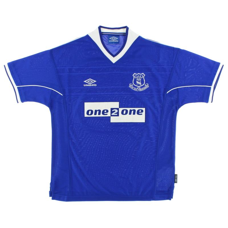 1999-00 Everton Umbro Home Shirt *Mint* XL