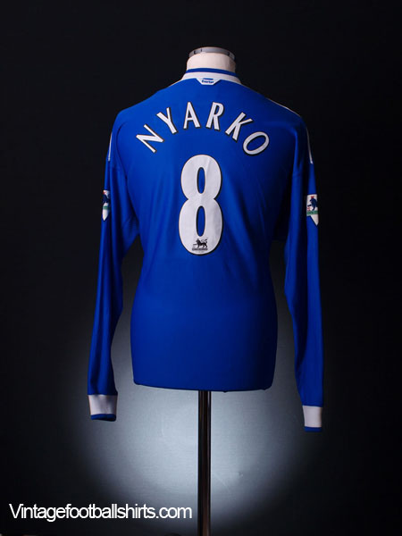 1999-00 Everton Home Shirt Nyarko #8 *Mint* L/S XL