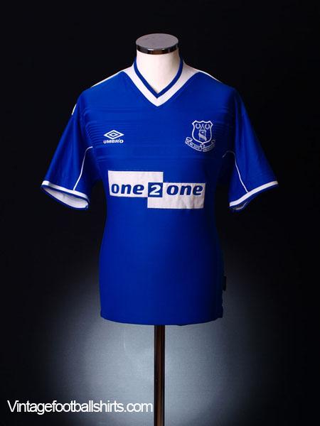 1999-00 Everton Home Shirt XXL