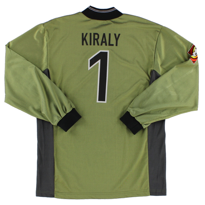 1999-00 Hertha Berlin Goalkeeper Shirt Kiraly #1 S