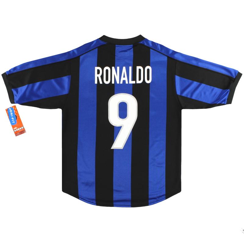 1999-00 Inter Milan Nike Home Shirt Ronaldo #9  *BNIB*  - 162674-463