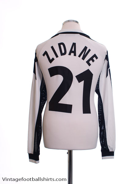 1999-00 Juventus Away Shirt Zidane #21 L/S L