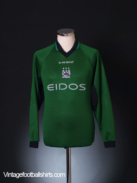 1999-00 Manchester City Goalkeeper Shirt L.Boys