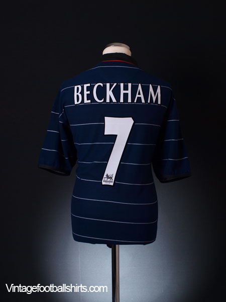 reputable site 4498b 2c3ad 1999-00 Manchester United Away Shirt Beckham #7 L for sale