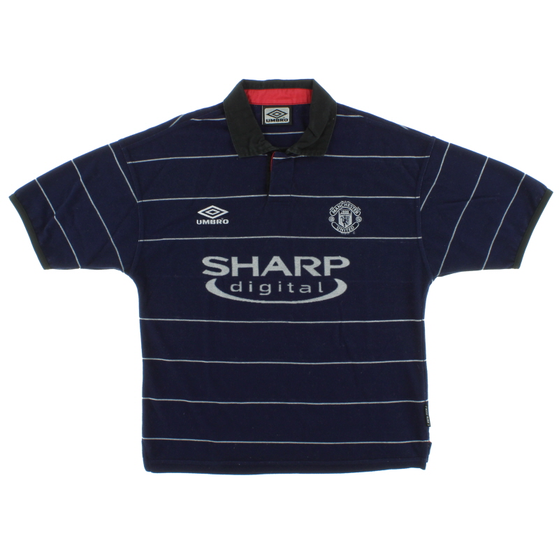 1999-00 Manchester United Away Shirt S.Boys